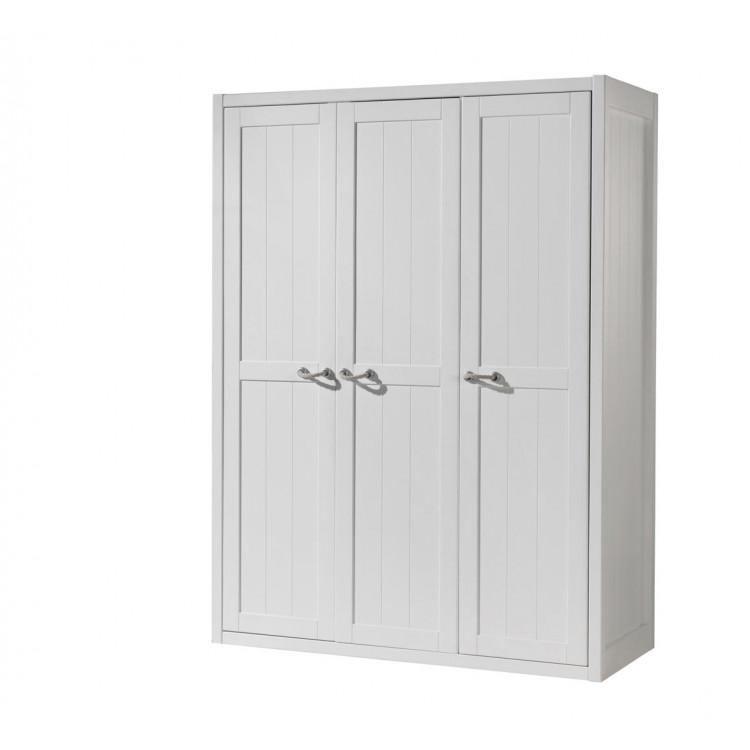Armoire enfant contemporaine 146 cm blanc laqué Oceanie