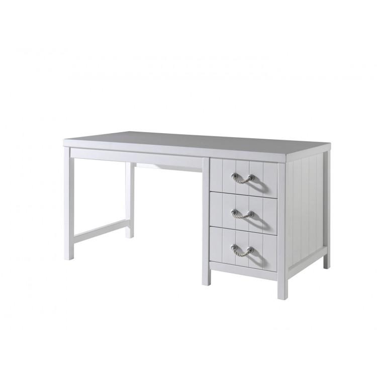 Bureau contemporain coloris blanc laqué Oceanie
