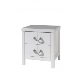 Chevet contemporain blanc laqué Oceanie