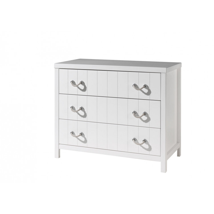 Commode contemporaine blanc laqué Oceanie