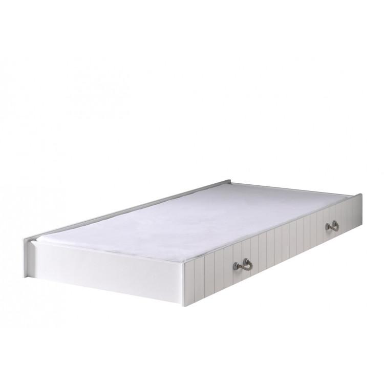 Tiroir-lit contemporain coloris blanc laqué Oceanie
