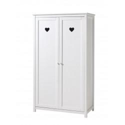Armoire enfant 110 cm style campagne blanc laqué Soane