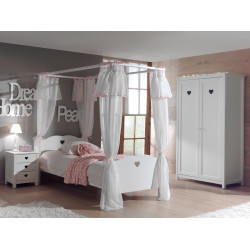 Chambre enfant style campagne blanc laqué Soane III