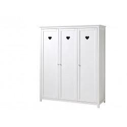 Armoire enfant 159 cm style campagne blanc laqué Soane