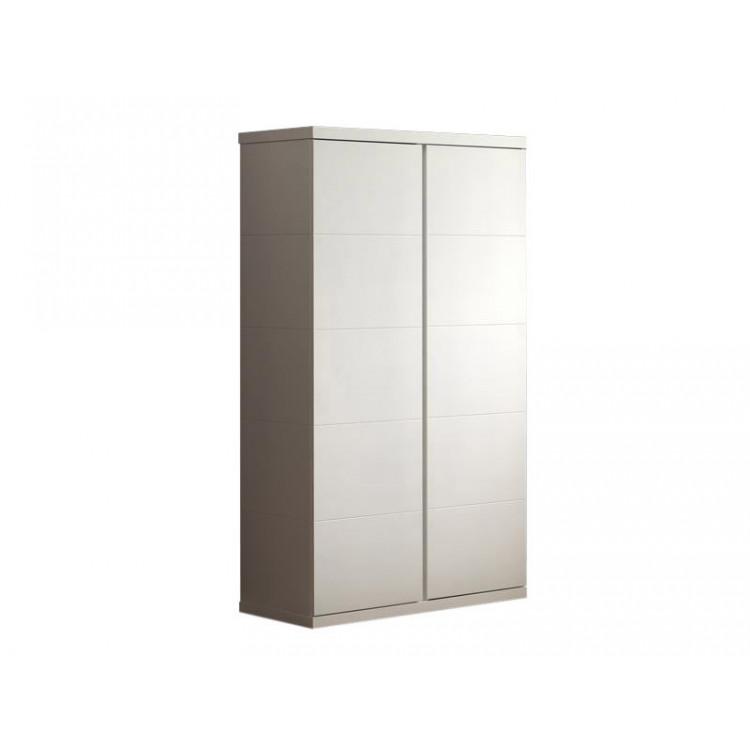 Armoire contemporaine 110 cm blanc Elara