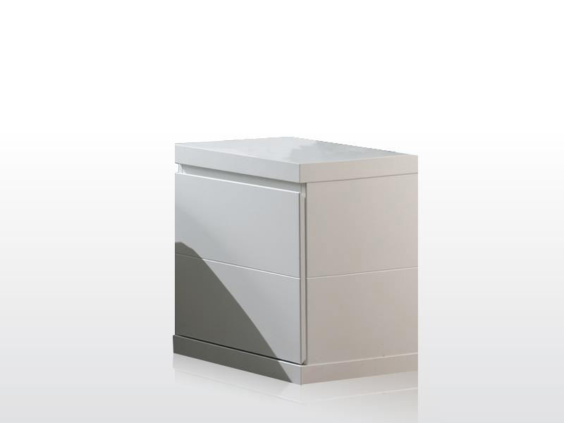 Chevet contemporain blanc Elara