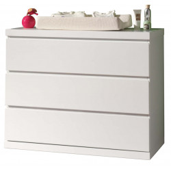 Commode contemporaine blanc Elara