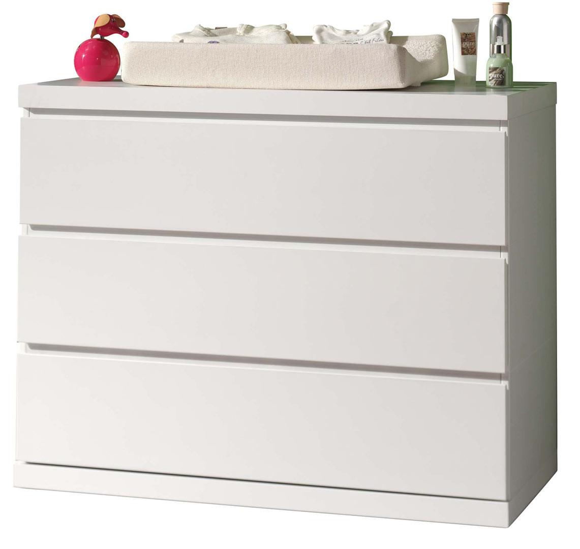 Commode contemporaine blanc Elara
