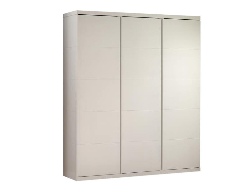 Armoire contemporaine 166 cm blanc Elara