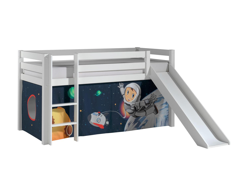 Lit mezzanine enfant moderne pin massif Asteroide