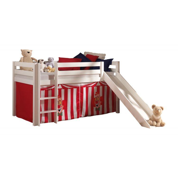 Lit mezzanine enfant moderne pin massif Circus