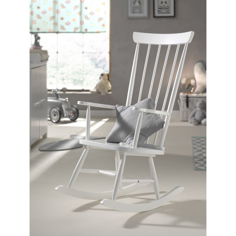 Rocking chair contemporain en bois massif Norah