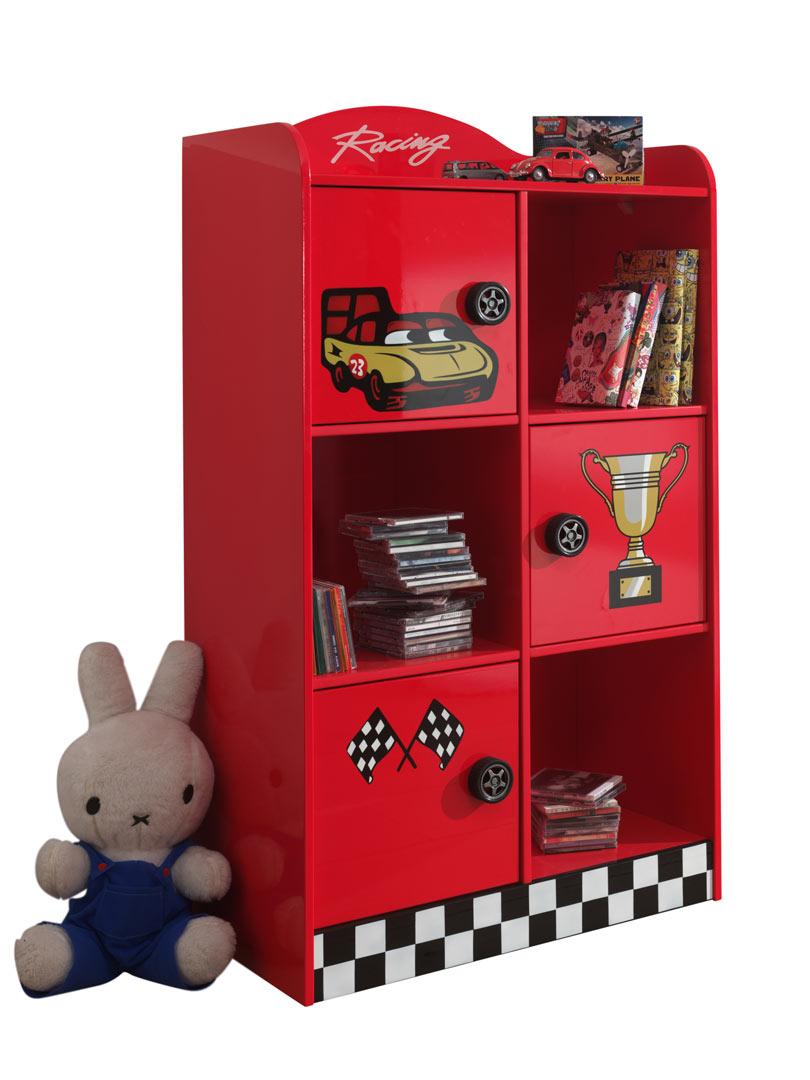 Bibliothèque enfant moderne rouge Heroes