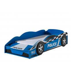 Lit voiture enfant moderne bleu Bolide