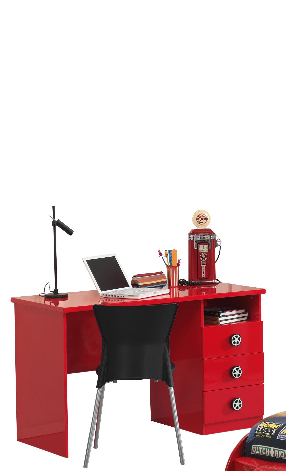 Bureau enfant moderne rouge Bolid