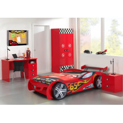 Chambre enfant moderne rouge Bolid