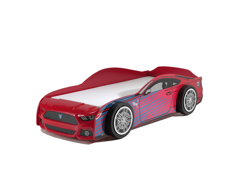 Lit voiture enfant moderne rouge Pantera