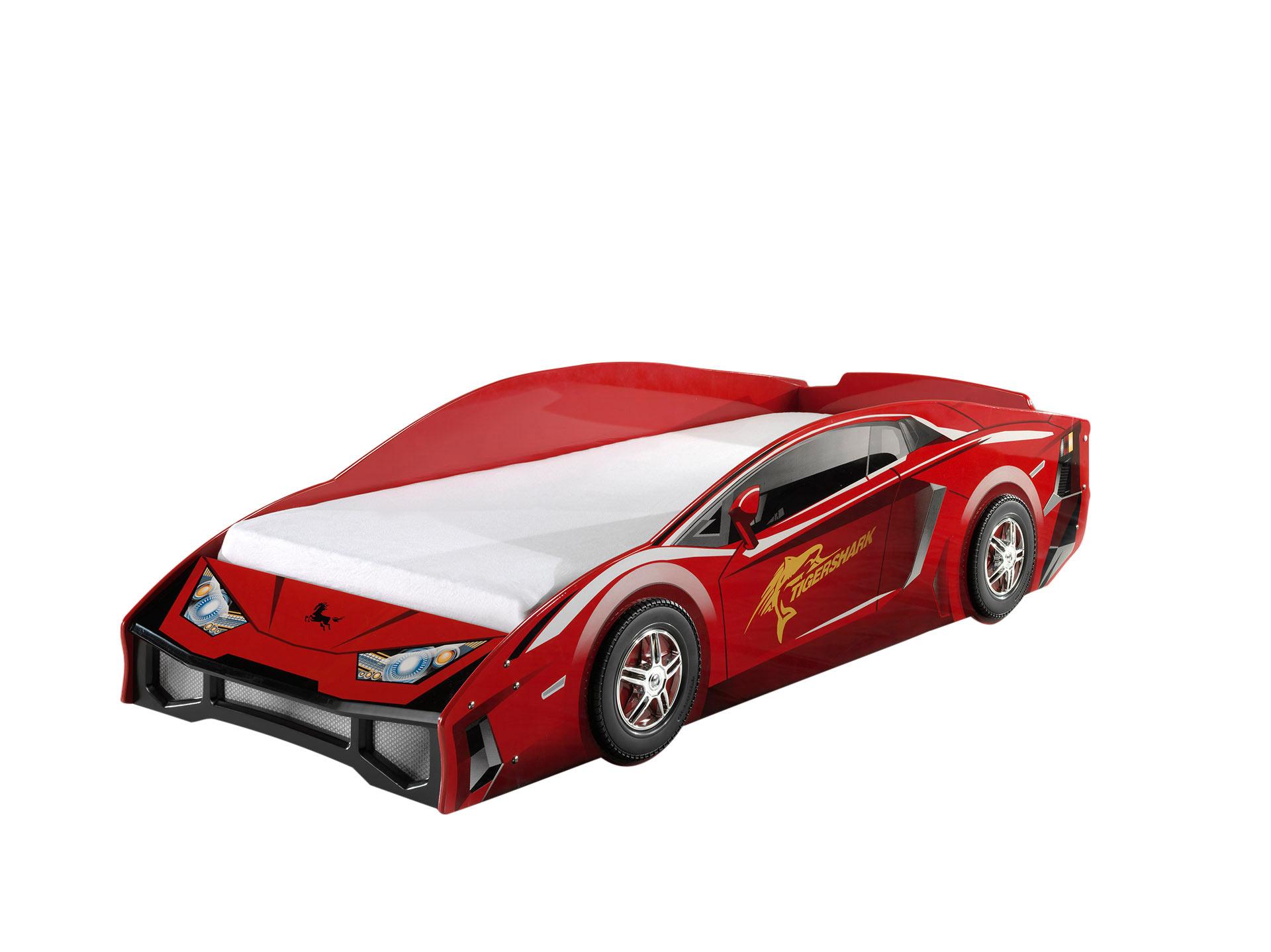 Lit voiture enfant moderne rouge Kougar
