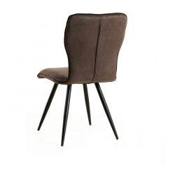 Chaise de salle à manger moderne en tissu gris (lot de 2) Dorothy