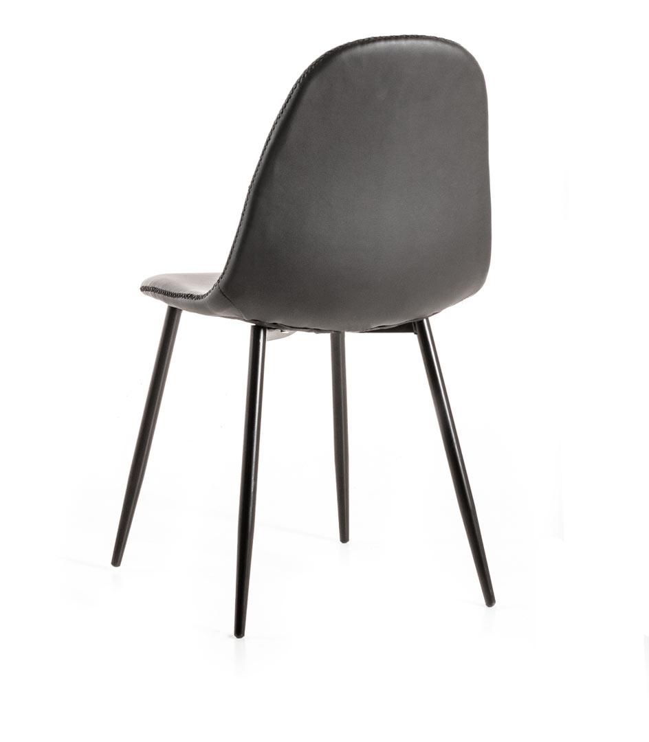 Chaise de salle à manger moderne en PU (lot de 4) Jannie