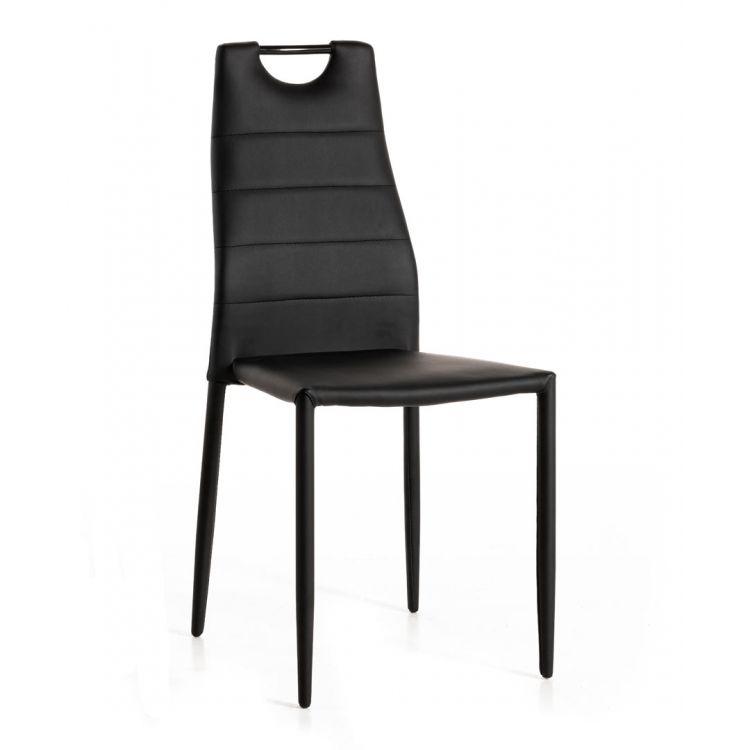 Chaise de salle à manger moderne en PU (lot de 4) Aramis