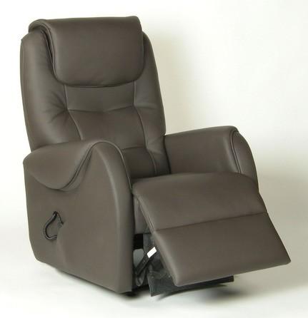 Fauteuil de relaxation 100 % cuir électrique releveur avec repose-pieds intégré FIDJI