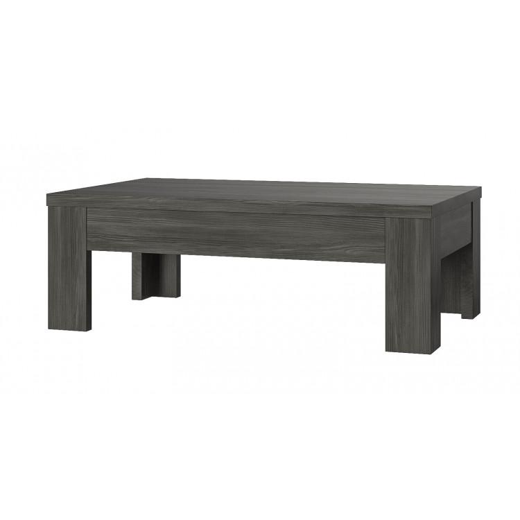 Table basse contemporaine gris foncé Donatio