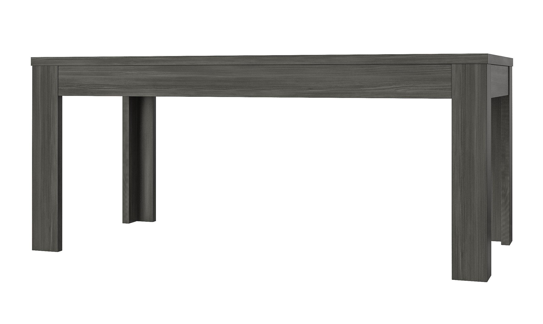 Table de salle à manger contemporaine gris foncé Donatio