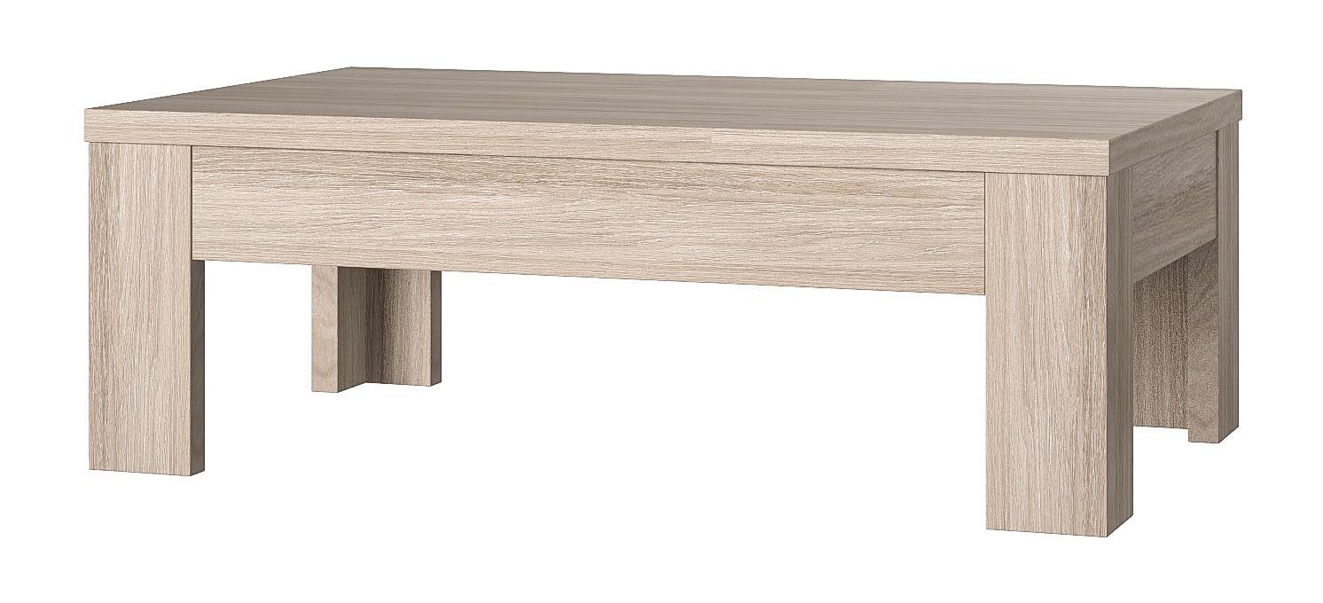 Table basse contemporaine chêne cérusé Syracuse