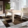 Table de salle à manger contemporaine chêne cérusé Syracuse