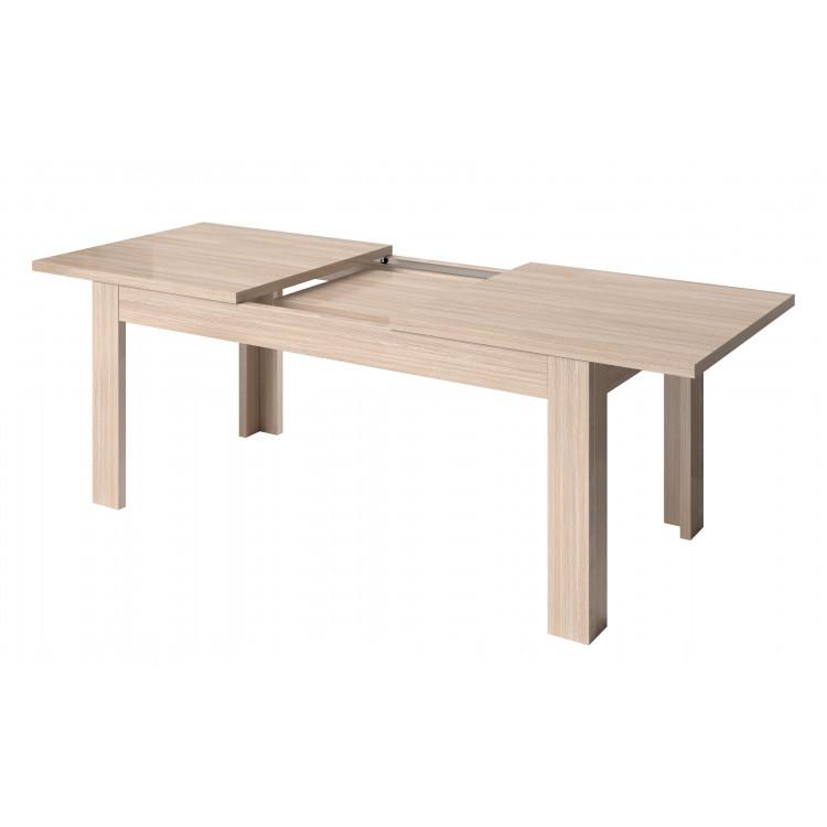 Table de salle à manger contemporaine extensible chêne cérusé Syracuse