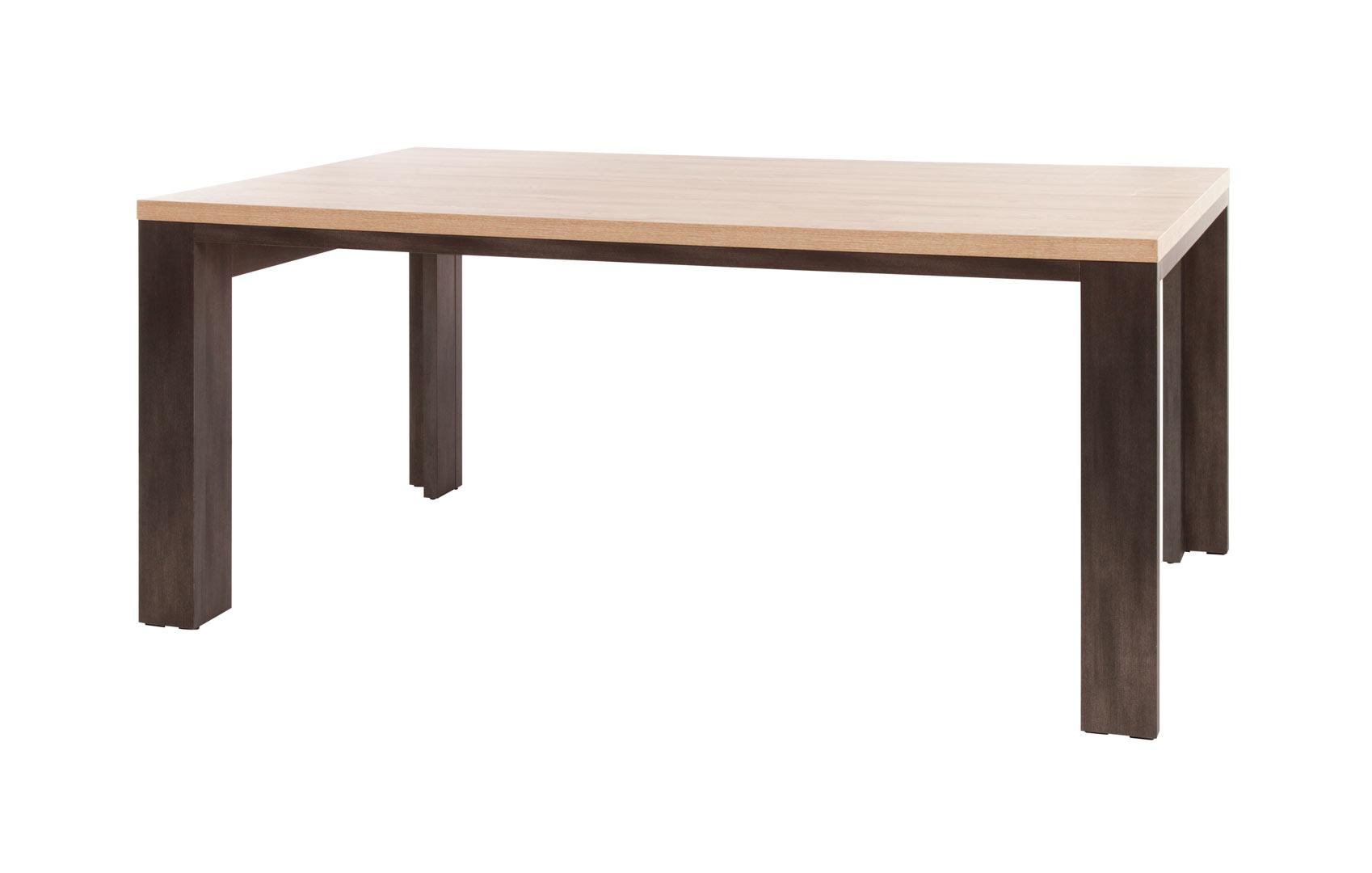Table de salle à manger contemporaine chêne clair Jordana