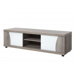 Meuble TV moderne chêne/blanc Saphir