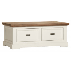 Table basse contemporaine havana/blanc Kiaro