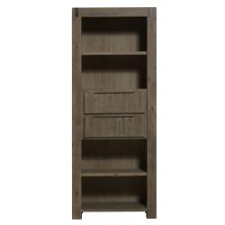 Bibliothèque contemporaine bois massif gris brumeux Kalija