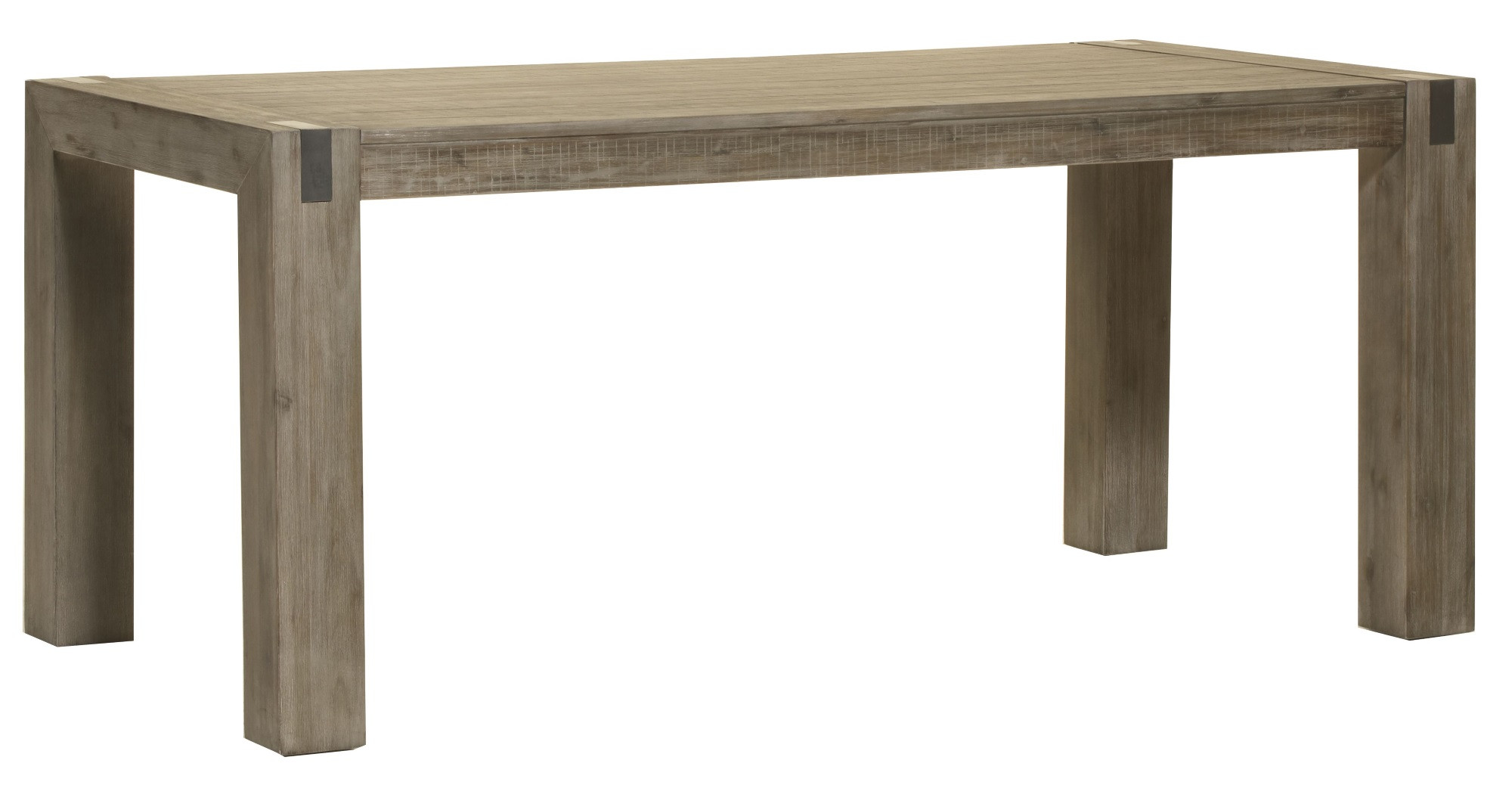 Table de salle à manger contemporaine bois massif gris brumeux Kalija
