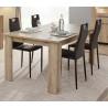 Table de salle à manger contemporaine chêne sanremo Arielle
