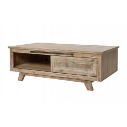 Table basse style nature en bois massif chêne clair Valerie