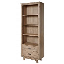 Bibliothèque style nature en bois massif chêne clair Valerie