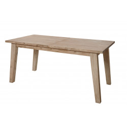 Table de salle à manger style nature en bois massif chêne clair Valerie