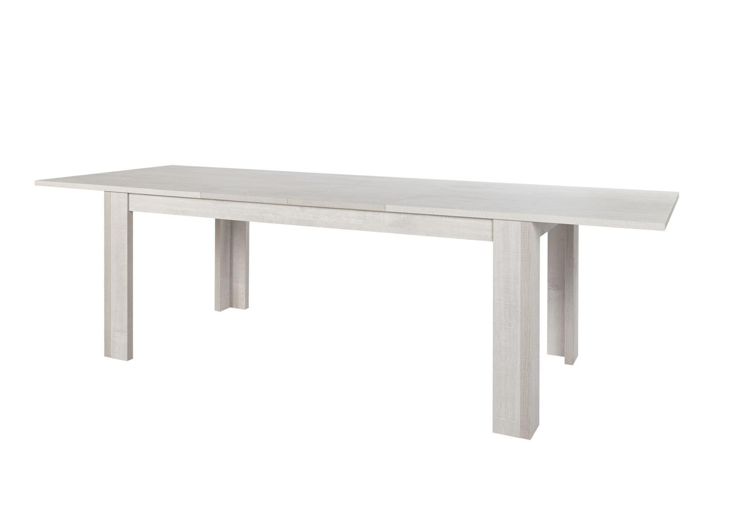 Table de salle à manger extensible contemporaine chêne clair Marijo