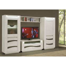 Ensemble TV contemporain chêne blanc Joelle