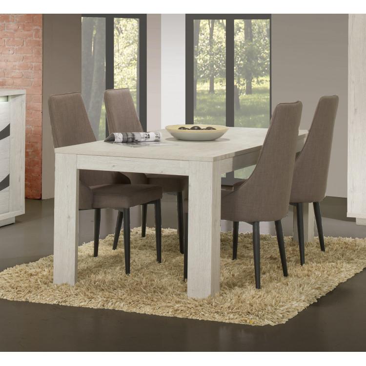Table De Salle A Manger Extensible Contemporaine Chene Blanc