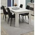 Table de salle à manger extensible contemporaine chêne clair Lessie