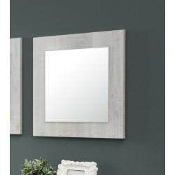 Miroir de salle à manger carré chêne clair Lessie