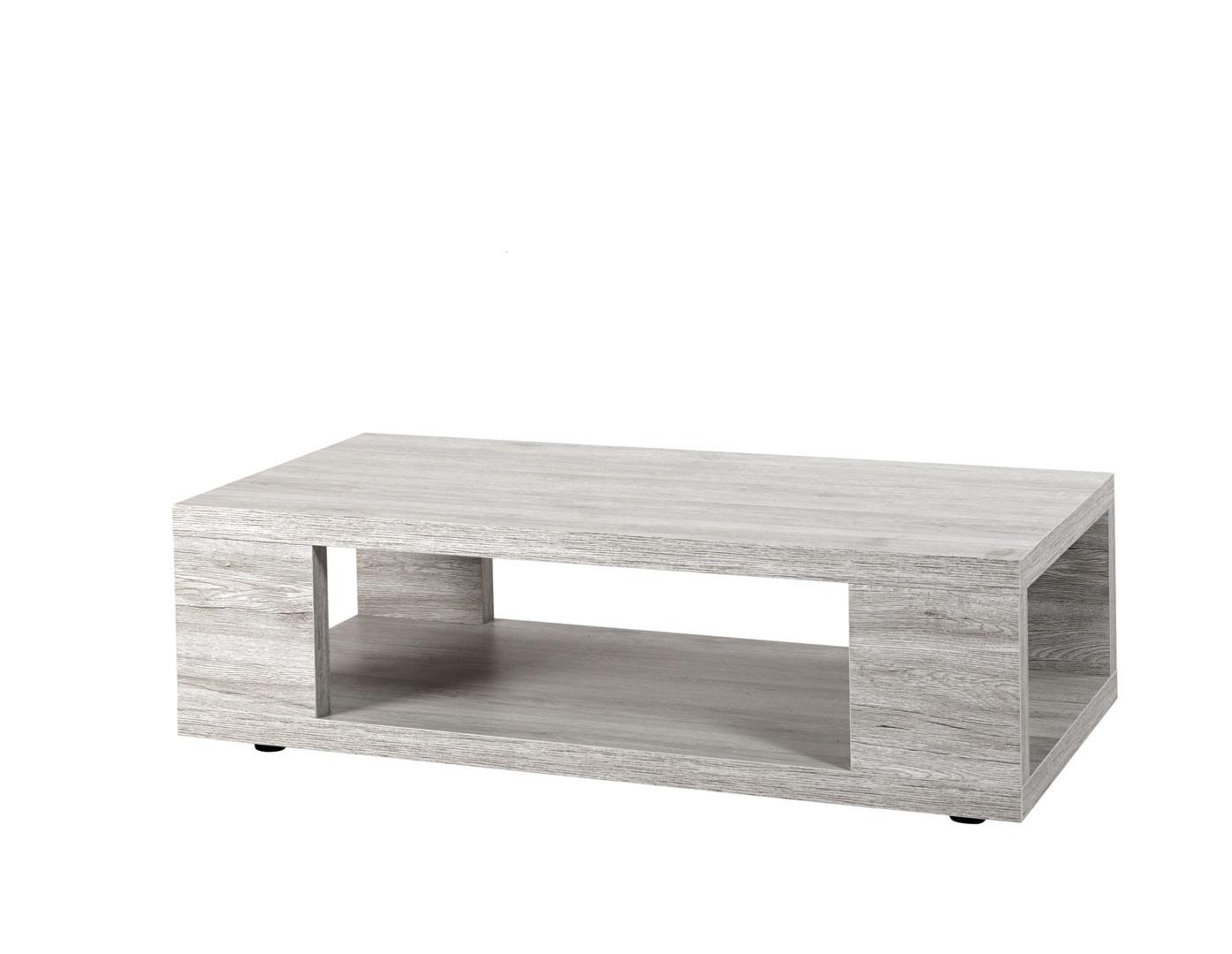 Table basse contemporaine chêne gris Merry