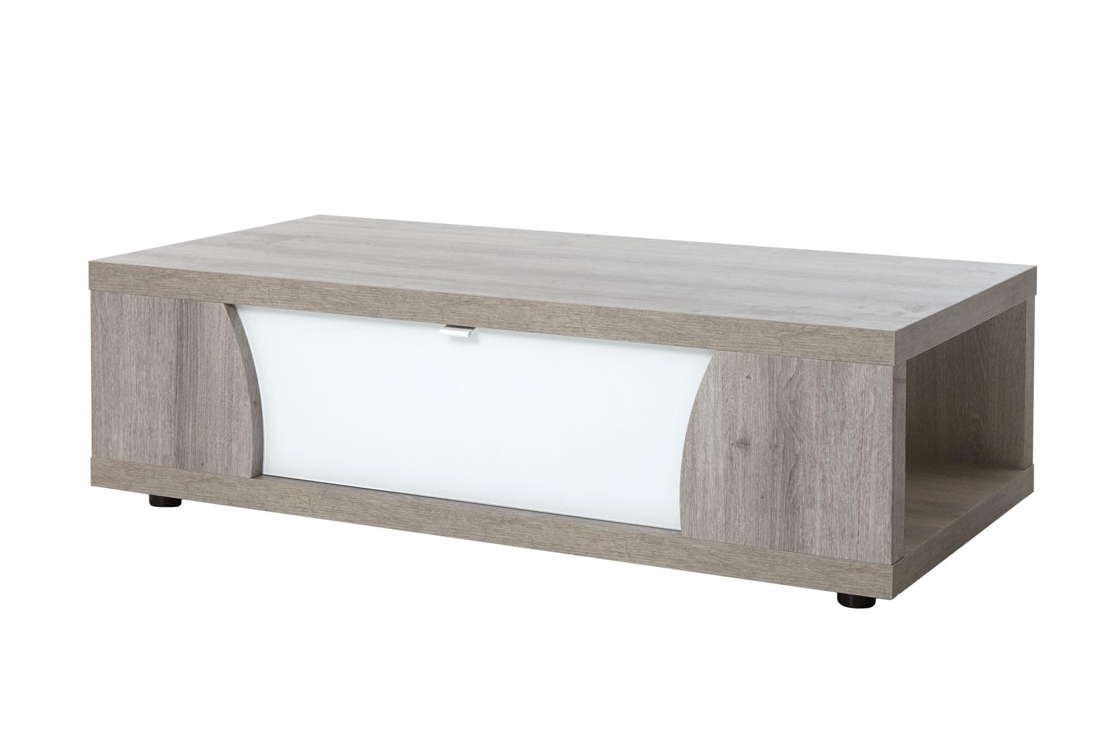 Table basse moderne chêne/blanc Saphir