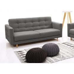Canapé convertible scandinave en tissu gris Cosy