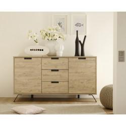 Buffet/bahut industriel 2 portes/3 tiroirs Alabama
