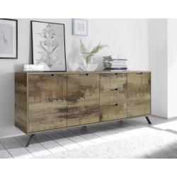 Buffet/bahut industriel 3 portes/3 tiroirs Alabama